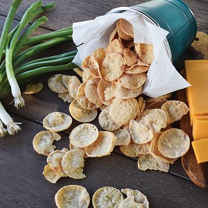 Cheddar & Onion Protein Chips